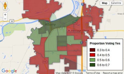 City of Albany Precinct-Level Measure 91 Vote Results